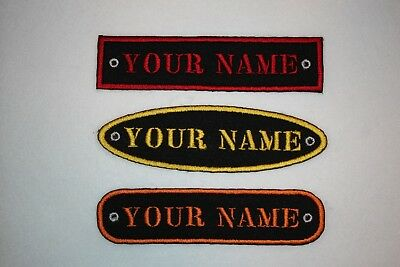 Personalised Embroidered Name Patch STENCIL FONT - Iron Or Sew On **FREE  POST* • 3.25£