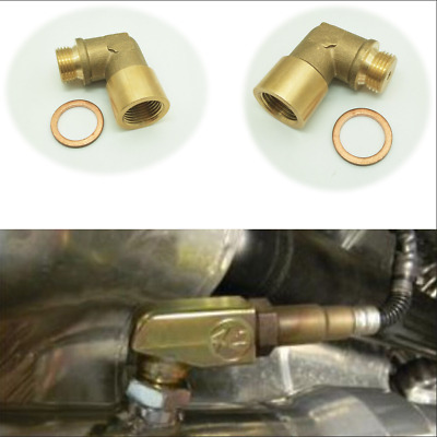 $9.99 • Buy 02 Bung Extension M18X1.5 O2 Oxygen Sensor Angled Extender Spacer 90 Degree