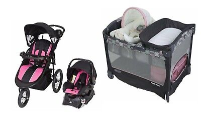 $545 • Buy Baby Stroller With Infant Car Seat Playard Bassinet Travel System Set Combo