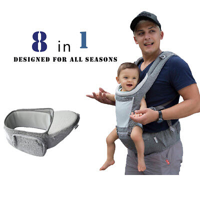DaDa Hip Seat Baby Carrier, Baby Shower Gift, Christmas Gift, Black Friday Deal • 43.34£