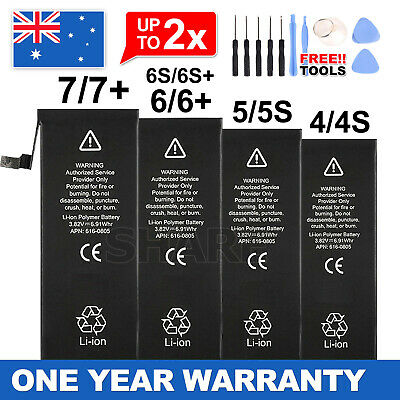 AU9.95 • Buy For New IPhone 4S 5 5S 6 6S 7 Plus Internal Battery Replacement OEM