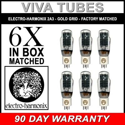 $ CDN619.54 • Buy New Ip & Gm Factory Matched Sextet (6) Electro-Harmonix 2A3 Gold Grid Tubes