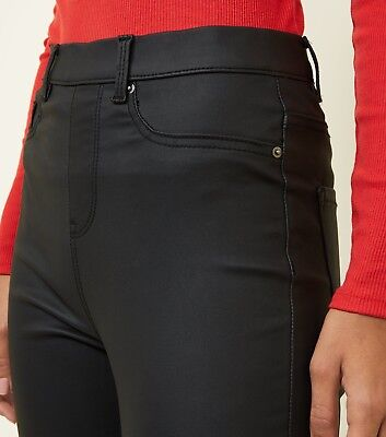 Ladies Ex New Look Skinny Jeans Womens Stretch Slim High Pants Leather Jeggings • 9.95£