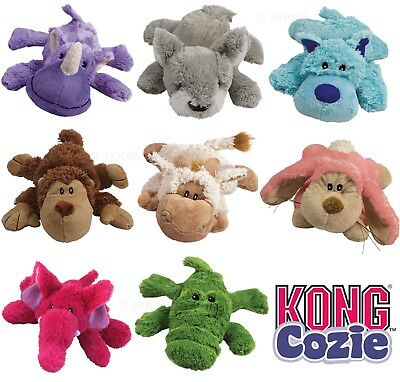 KONG Cozies Dog Puppy Cozie Toys Soft Plush Squeaky Dogs Toy • 7.99£