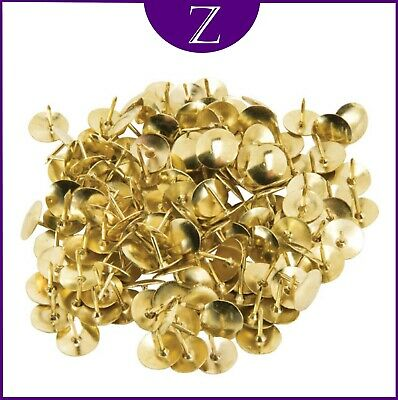 Drawing Pins Brass Headed Box Of 100 • 1.95£