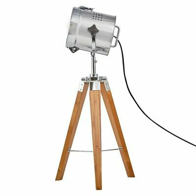 AU104 • Buy 67cm Natural Bamboo Small Tripod Lamp With Chrome Head Nightstand Table Light