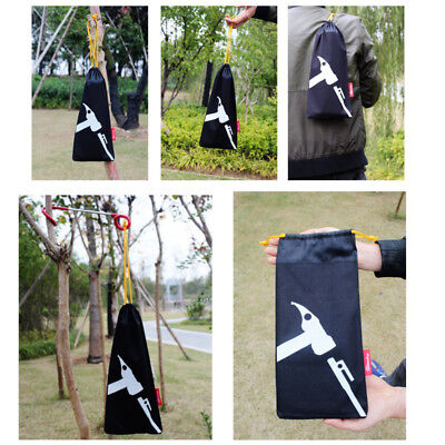 AU9.84 • Buy Camping Portable Tent Peg Nails Stake Storage Pouch Hammer Organize Bag
