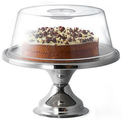 £13.89 • Buy Stainless Steel Cake Display Stand And Cake Dome | 12 Inch