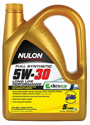 AU50.95 • Buy Nulon Full Synthetic Long Life Engine Oil 5W-30 5L SYN5W30-5 Fits Ford Ecospo...