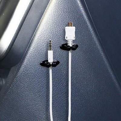 $0.76 • Buy 8Pcs Car Headphone USB Cables Clips Charger Line Holder Organizer Accessories