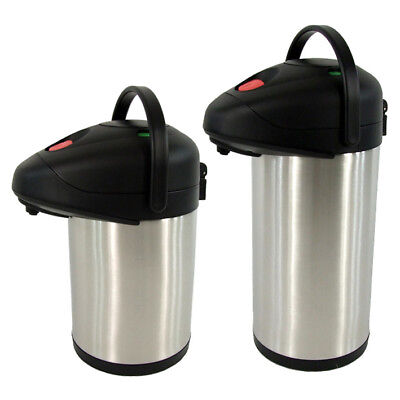 AU54.90 • Buy Thermos Airpot Stainless Steel Vacuum Flask Insulated Pump Pot Hot Cold 3L 4L