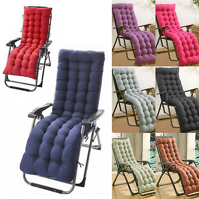£10.79 • Buy Garden Sun Lounger Replacement Cushions Pad For Zero Gravity Recliner Chair Seat