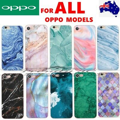 AU5.99 • Buy For OPPO A3s AX5 A57 R17 Pro R15 Marble Pattern Funny Soft Fashion Case Cover