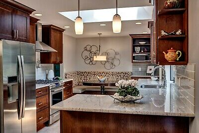 $5999.99 • Buy Fully Assembled All-Wood 10X10 Shaker Kitchen Cabinets In Olmsted Cherry Kafe
