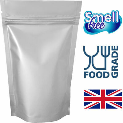 Stand Up Pouches Mylar Foil Bag Heat Seal Food Grade Aluminium Zip Lock Bags  • 3.99£