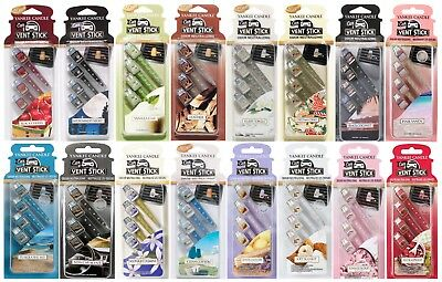 Yankee Candle Vent Sticks Car Air Freshener 4 Pack - Choose Quantity & Fragrance • 5.39£