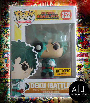 $139.95 • Buy Funko Pop! Animation My Hero Academia Deku (Battle) 252 FIRST PRINT!!