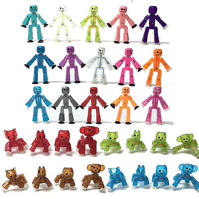 Zing Stikbot Robot & Animals Solid Clear Green Blue Red Pink Yellow White • 4.50£