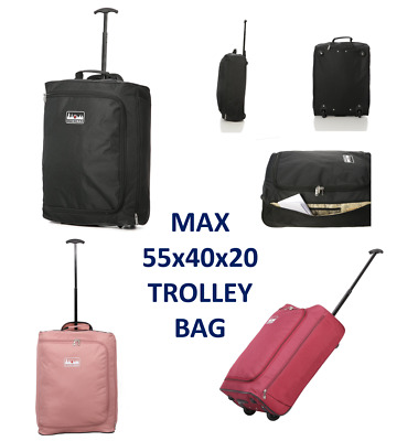 £11.99 • Buy 5 Cities Ryanair 55 X 40 X 20 Maximum Cabin Hand Luggage Approved Trolley Bag