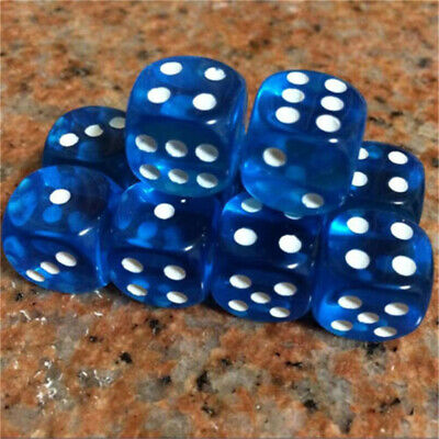 AU9.68 • Buy 5-25pcs Standard Dice Six Sided D6 Transparent Party Creative For RPG Gaming