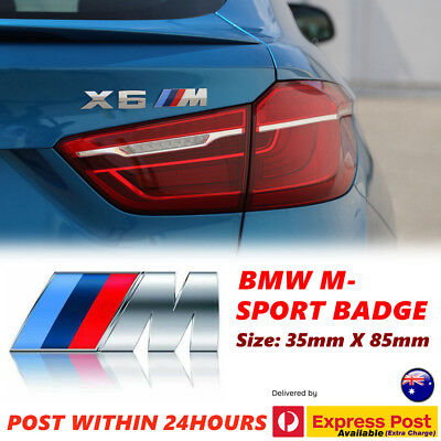 AU5.99 • Buy M CAR BADGE For BMW Emblem Logo M POWER SPORT BOOT Car Panel STICKER