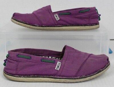 $22.99 • Buy TOMS Lilac Purple Bimini Stitchout Slip-on Shoes Women US 8.5 Casual Loafers GUC
