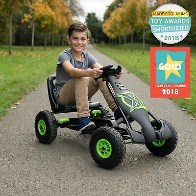 £130.95 • Buy Large Go Kart Kids Children Pedal Ride On Car Racing Toy Rubber Tyres Wheels