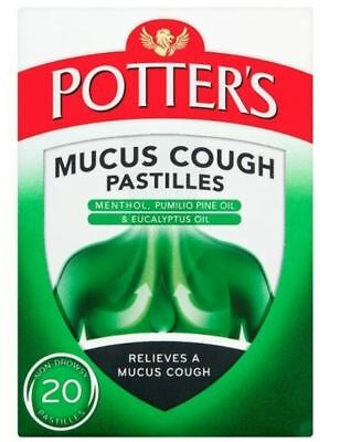£5.95 • Buy Potters Mucus Cough Pastilles - Pack Of 20