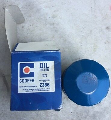 AU20 • Buy Cooper Oil Filter Z386 Suits Toyota-GM-Daihatsu