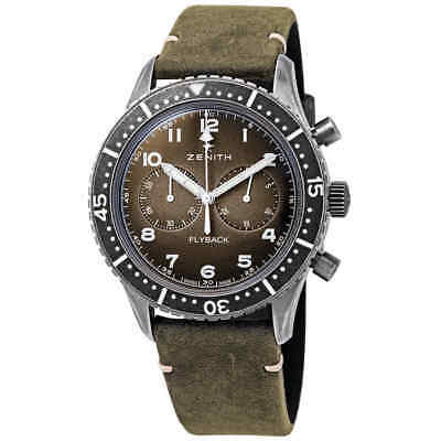 $4650 • Buy Zenith Pilot Cronometro Tipo CP-2 Flyback Chronograph Automatic Grey Grained