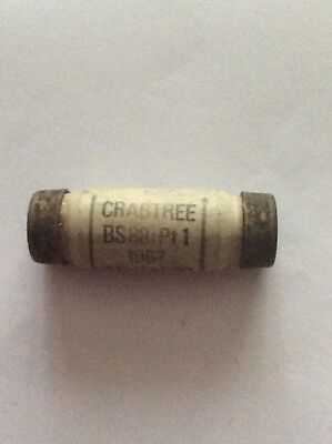 £5.99 • Buy New/old Stock Crabtree BS88:Pt1 1967 15A 415V AC33 Class 02 Barrel  Fuse.