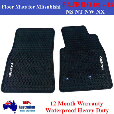 AU75 • Buy Heavy Duty 2 Front Floor Mats For Mitsubishi PAJERO NS NT NW NX 2006 - 2018