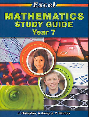 AU16 • Buy Excel Year 7 Mathematics Study Guide By J. Compton (Paperback, 2005)
