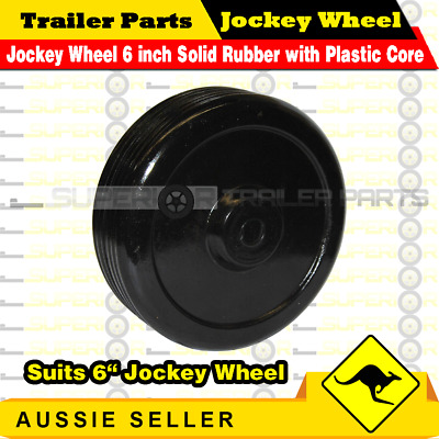 AU170.95 • Buy Superior Jockey Wheel 6 Inch Solid Rubber With Plastic Core