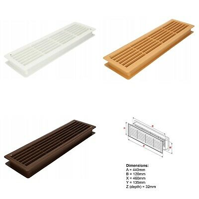 £8.33 • Buy Bathroom Door Air Vent Grille 460mm X 135mm Two Sided Ventilation Cover