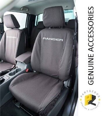 AU320 • Buy Ford Ranger PXII PXIII Genuine Black Canvas Front Seat Covers Set VJL5Z9963812B