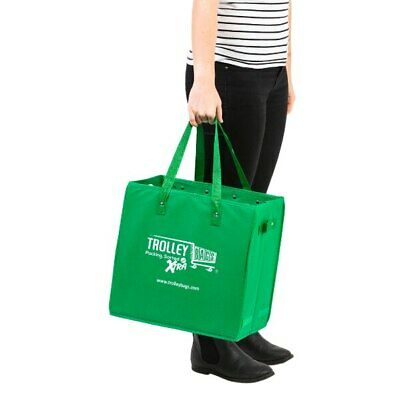 AU16.95 • Buy NEW Trolley Bags Xtra Shopping Reusable Eco-Friendly Supermarket