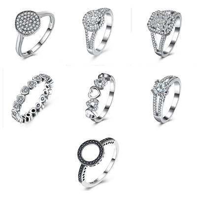 Sterling Silver Womens Fashion Jewelry Wedding Engagement  Rings • 10£