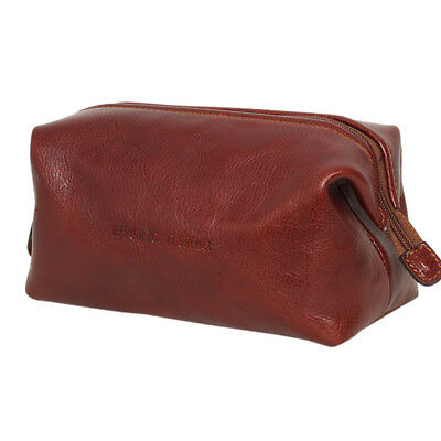 AU109 • Buy NEW Brown Leather Toiletry Bag Men's By Republic Of Florence