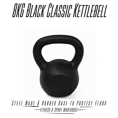 AU49.99 • Buy 8KG Classic Kettlebell Russian Kettle Bell Solid Cast Iron Crossfit Rubber Base