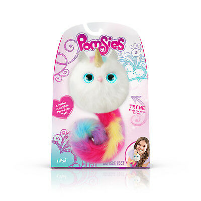 $ CDN9.87 • Buy Pomsies Luna Fuzzy Toy 50 Reactions Color-changing Eyes New Toy