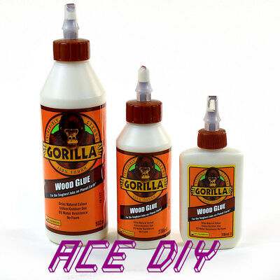 Gorilla Wood Glue | Water Resistant PVA Strong Fast Bond Non Foaming Adhesive • 4.99£