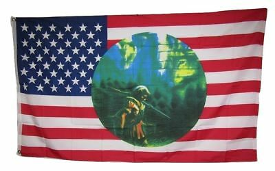 $7.39 • Buy 3x5 Indian Hunter Shadow Wolf USA Flag 3'x5' House Banner Grommets
