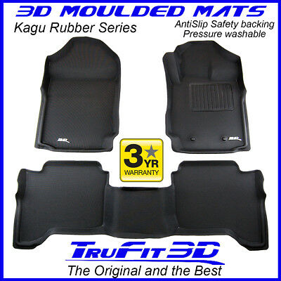 AU175 • Buy Fit Ford Ranger Raptor PX3 Dual Cab 2018-2021 Genuine 3D Black Rubber Floor Mats