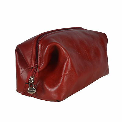 AU115 • Buy NEW Red Leather Toiletry Bag Men's By Republic Of Florence