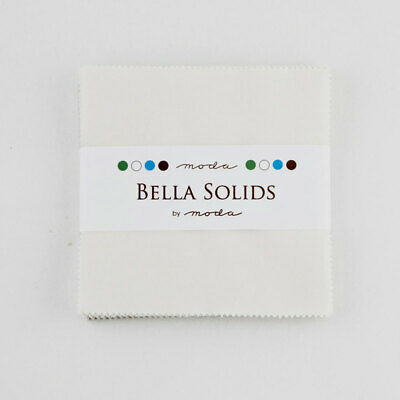 £11.83 • Buy Moda Fabric Bella Solids Charm Pack Feather - Patchwork Quilting 5 Inch Squares