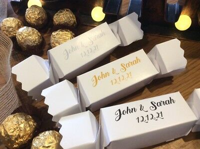 PERSONALISED Party Cracker Style Gift Boxes  ❤️ Weddings ❤️ Xmas ❤️ All Occasion • 6.50£