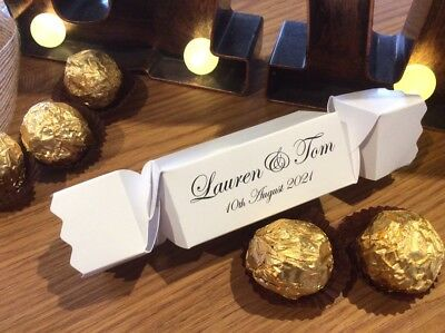 PERSONALISED Party Cracker Style Gift Boxes  ❤️ Xmas ❤️ Weddings ❤️ All Occasion • 6.50£