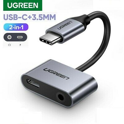 AU12.93 • Buy Ugreen 2in1 USB C To 3.5mm Headphone Aux Adapter With Type-C Charging Port