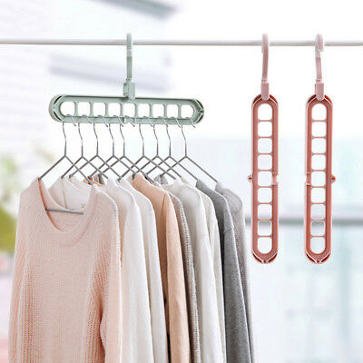 £3.99 • Buy 9-hole Magic Hook Hanger Storage 360° Rotate Extendable Foldable Thicken Durable